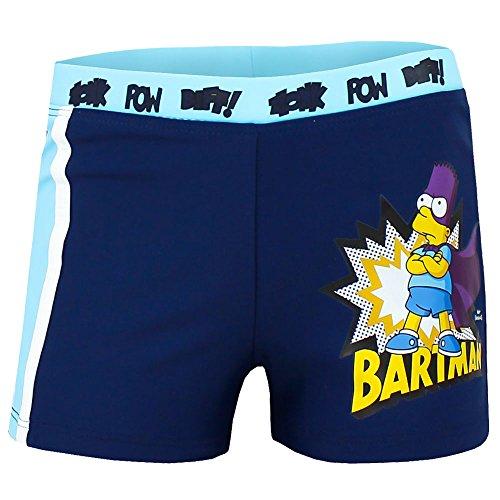 Jungen Badehose * Pants * Schwimmshort * Bart Simpsons * Bartman * Gr. 116-152 (110/116, dunkelblau)