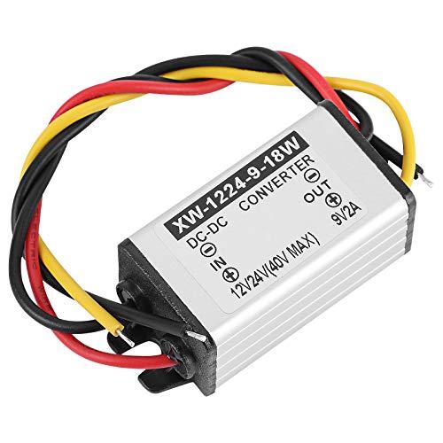 Vokmon Reductor de Voltaje DC convertidor DC Buck convertidor antichoque 12V 24V a 9V 2A