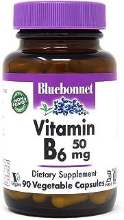 Bluebonnet Vitamin B6 100 mg, 90 Vegetable Capsules