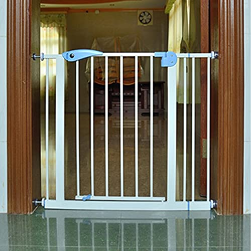 Safe-O-Kid – Safety Gate 70-95 cm (Covers More Than 3 feet Area) Adjustable, Pure Metal Safety Gate with Secret Lock & 2-Way Auto Close + Four Strong Wall Holders