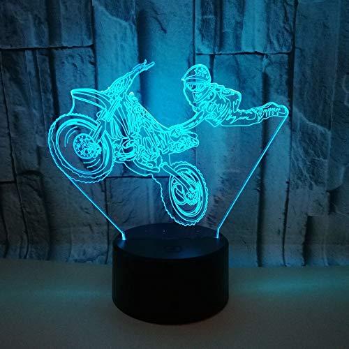 Luminosa luz de bricolaje truco motocicleta luz de noche 3d nueva luz LED linda de lujo para luz de habitación iluminación indirecta luz de humor luz de noche