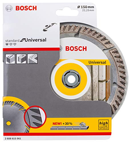 Bosch Professional Disco de corte de diamante estándar para universal (hormigón y mampostería, 150 x 22,23 mm, accesorio para amoladora angular)