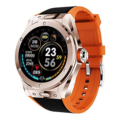 XYZK MV58 Reloj inteligente para mujer con Bluetooth Smartwatch para hombre Fitness Tracker Cronómetro GPS podómetro reloj de presión arterial Monitor de ritmo cardíaco para IOS Android (B)