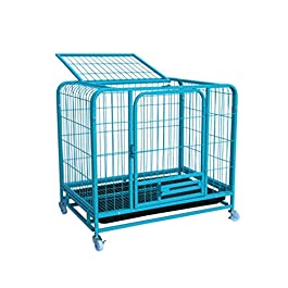 Dog Cage Kennel Pet Cage Suitable for Large and Medium Dogs Travel Metal Indoor with Toilet Universal Pet Home Cat Cage