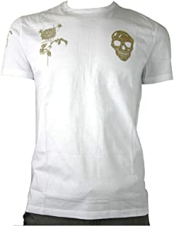 Alexander McQueen Men's White Organic Bullion Motif T-Shirt 463984 0900