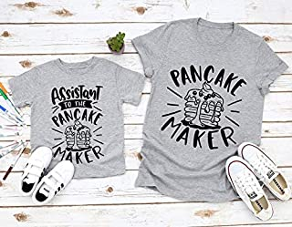 Daddy and Me Shirts, Pancake Maker, Assistant to Pancake Maker, Funny Shirts, Daddy and Daughter Shirts, Dad and Son Matching Tees