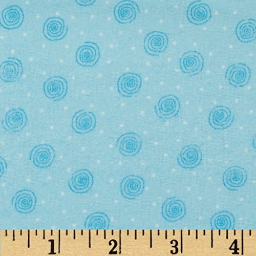 Comfy Flannel Swirl Blue Fabric the by Limited price Sales results No. 1 sale Yard