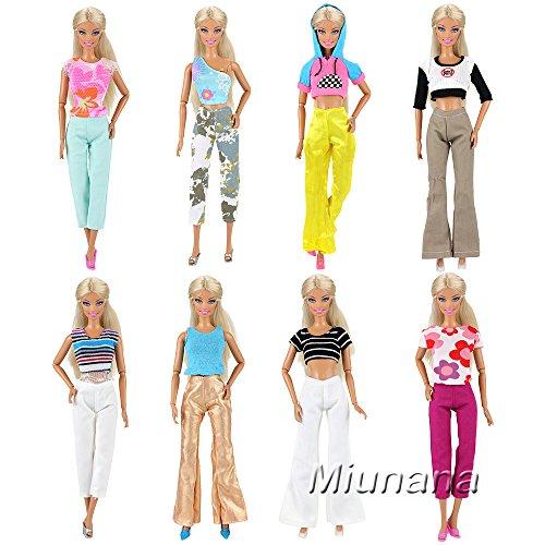 Miunana 5X Ropas con Camiseta y Pantalones Hecha a Mano Vestir Casual como Regalo para 11.5 Pulgadas Muñeca
