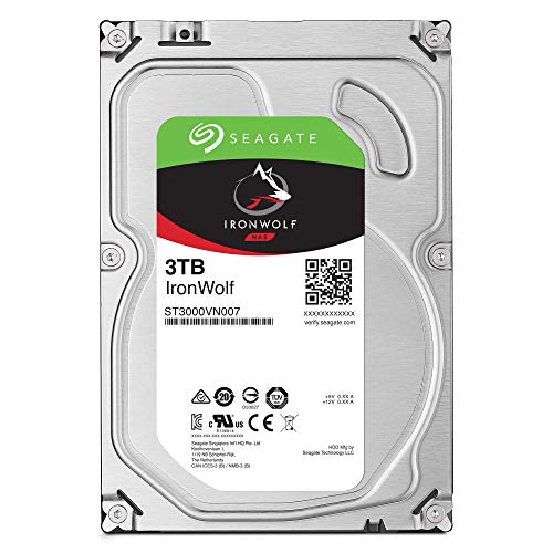 Seagate IronWolf NAS 5900RPM Internal SATA Hard Drive 3TB 6Gb/s 3.5-Inch (ST3000VN007)
