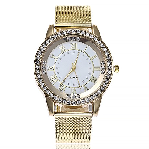 Armbanduhr Damen Ronamick vansvar Lässige Quarz-Edelstahl-Band-Marmorbanduhr-analoge Armbanduhr Armband Armbanduhr Uhr Uhren(D)