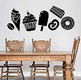 Negozio Di Dessert Adesivo Dolci Confezione Gelato Torta Ciambella Chicchi Di Caffè Adesivi Per Finestre In Vinile Caffè Interior Decor Art 30X76 Cm