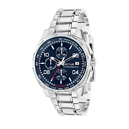 SECTOR NO LIMITS Herren Chronograph Quarz Uhr mit Edelstahl Armband R3273803002