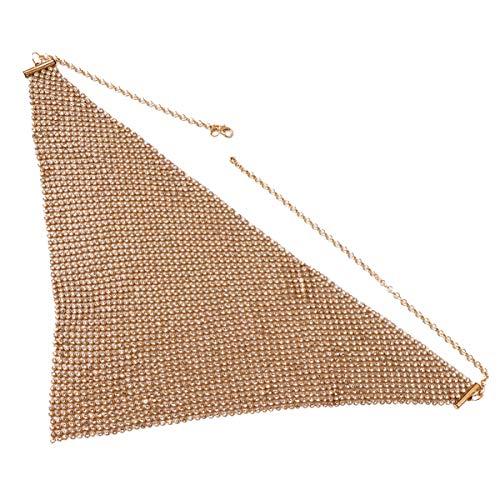 KESYOO Cubierta de La Cara de La Mascarada Bling Diamantes de Imitacin Brillantes Cubierta de La Boca Disfraz de Fiesta Decorativa para Discoteca de Bola (Dorado)