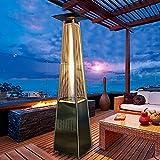 Calentador de pirámide de patio, Calentador de patio al aire libre, calentador de gas de pie, chimenea, estufa para asar, protector de calentador de jardín adecuado para patio, comercial, restaurante