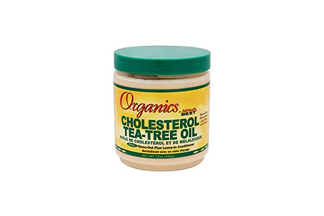 Africas Best Conditioner Originals Cholesterol Tea Tree 15 Ounce Jar (443ml)