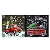 Diamond Painting Kits Christmas, 2Pcs Snowman 5D Diamond Painting Kits for Adult Full Drill Paint with Diamonds