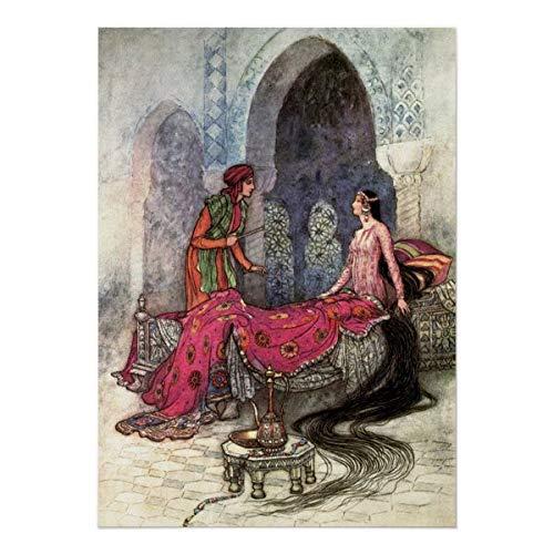 CiCiDi Póster, de Warwick Goble, de los cuentos populares de Bengala de Warwick, para decoración del hogar, sin marco, 40,6 x 60,9 cm