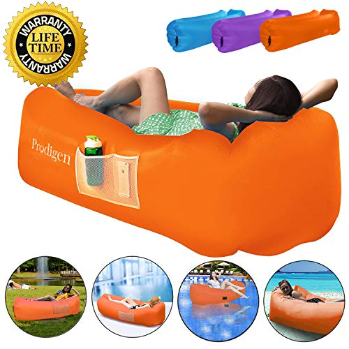 Prodigen Inflatable Lounger Chair, Air Sofa...
