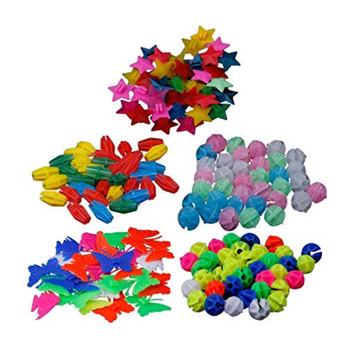 LIOOBO 170 Stücke Speichenperlen Speichenclips Speichenklicker im Dunkeln Leuchtend Kinderfahrrad Zubehör für Kinder Roller Speichen Dekoration