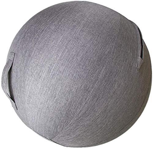 MRZJ 75cm Sitzmöbel rutschfeste Sitzball Stoff büro Yogaball-Bezug Stoff Cover Balance Gymnastikbälle Schwangerschaft für Büro und Zuhause Muskeltraining Staubdichte Bag Gray