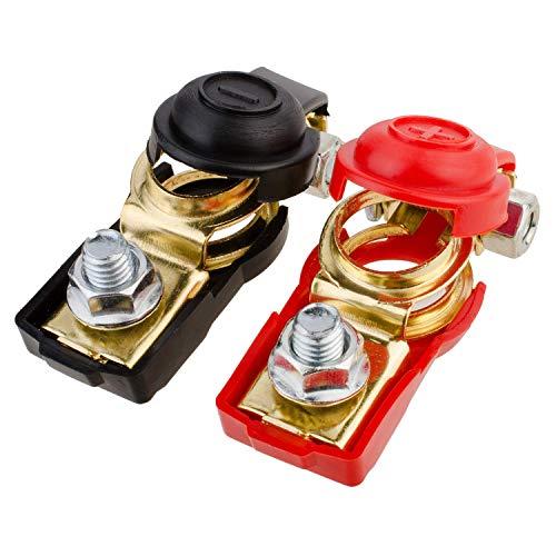 GTIWUNG Batterieschalter, Batterie Polklemmen Autobatterie Schnellklemmen Batterieklemmen Steckverbinder Auto Batterieclips Anschlussklemmen Batterie Boot KFZ PKW (1 Paar)