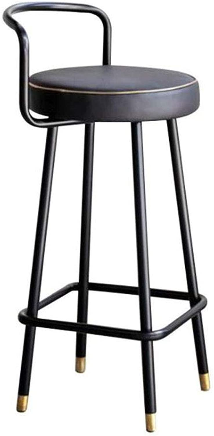 Bar stools Bar Stool High Stool ABS Can Be Raised Lower ABS Plastic Sponge Cloth Pad Sitting Height 75cm Black High Bar Chair Height Chair (color   Black)