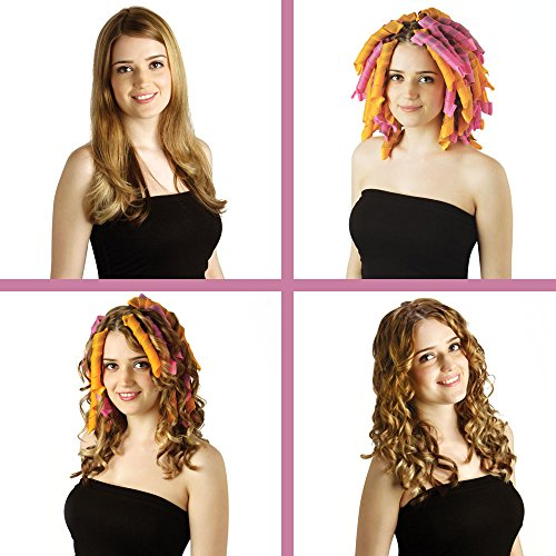 "Curlformers Hair Curlers Spiral Curls Top Up Pack, 8 No Heat Hair Curlers (Styling Hook Not Included), for Hair up to 14"" (35cm) Long"