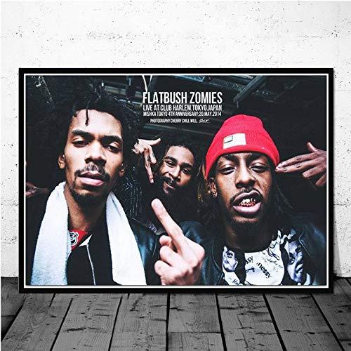 hetingyue Rahmenlose Zombie Musik Star Rapper Poster leinwand ölgemälde wandkunst Mode Bild Wohnzimmer Dekoration 30x40 cm