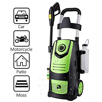 Suyncll High Power Washer Electric Pressure Washer,3800PSI 2.8GPM Pressure Washer Car Patio Garden Yard Cleaner?Green?