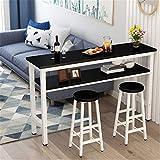 Equipo para el hogar Mesa de bar Mesa de bar simple Partición de la sala de estar del hogar contra la pared Barra de bar Mesa alta Mesa de restaurante de té para oficina (Color: Blanco2 Tamaño: 120