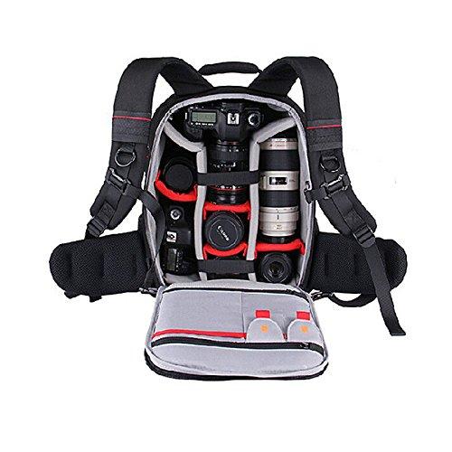 EIRMAI Elegance L zaino fotografico per 1 fotocamera reflex 6 obiettivi e acc.