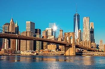 Brooklyn Bridge Manhattan New York City Skyline Photo Cool Wall Decor Art Print Poster 36x24