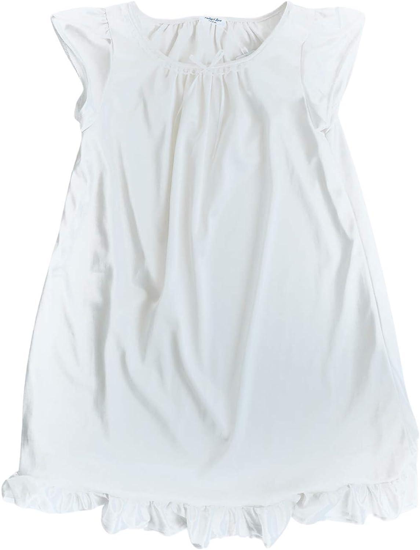 Girls Vintage Nightgown (White, XXL (9-10 Years)