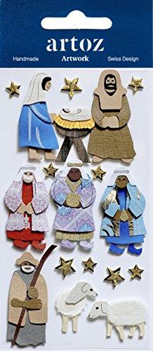 Xmas Krippenfiguren Craft Verzierung–Weihnachten Scrapbooking Karte Aufkleber