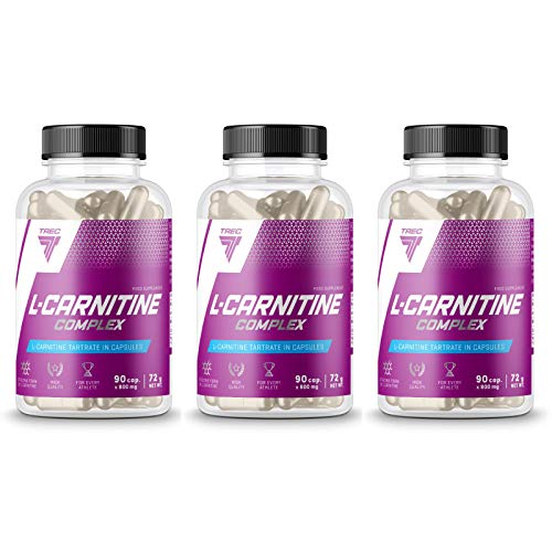 Trec Nutrition L-Carnitine Complex | Réduction des tissus adipeux | Brûleur de graisse | Perte de poids | Pilules minceur | Transformez les graisses en énergie (270 gélules)