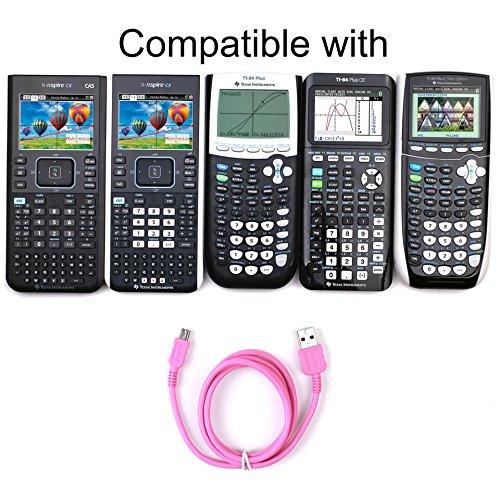 Guerrilla USB Cable for TI 84 Plus, TI 84 Plus C Silver Edition, TI 89 Titanium, TI Nspire CX & CX CAS graphing calculators, Pink Photo #5