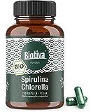 Spirulina Chlorella Algen Bio Kapseln - 1800mg Höchste Tagesdosis - 150 Kapseln a 600 mg - vegan - OHNE Magnesiumstearat - Abgefüllt und Kontrolliert in Deutschland (DE-ÖKO-005)