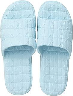 Women and Men's Bathroom Slippers, Men's Shower Sandals Antislip Fast Dry Slipper Gym Slider Sandals,Blue,M
