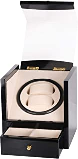 Watch 2 Position Watch Winder Box with Soft and Flexible Watch Pillows, Fashion Watch (Color : Black)