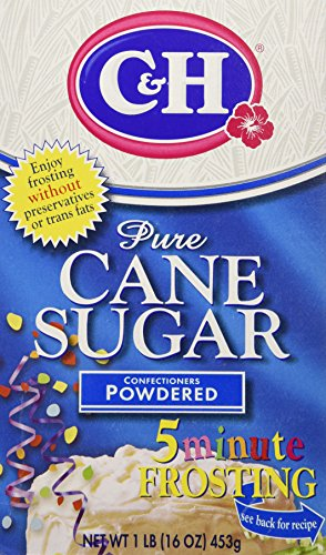 C&H, Pure Cane, Confectioners Powdered Sugar, 16oz Box (Pack of 4)