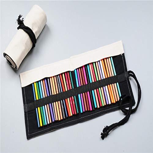 Pencil case 18.12.24/36/48/72 hole school canvas box roll pencil case girls pencil case children stationery bag