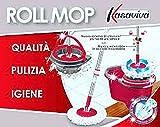 kasaviva Roll MOP MOCIO Rotante con 2 RICAMBI X Ogni Pavimento Super ASSORBENZA
