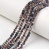 Cheriswelry 10 hilos de cuentas de vidrio 6 x 5 mm de cobre galvanizado cristal facetado ábaco para joyería collar pulsera artesanía Hacer