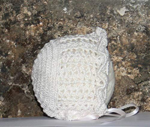 Capotita gorrito para bebé tejida a mano en crochet con algodón