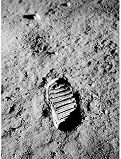 Apollo 11 Bootprint Astronaut Aldrin Armstrong 50th Anniversary Moon Landing Art Print Canvas Premium Wall Decor Poster Mu...