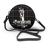 Yuanmeiju Borsa a tracolla rotonda Round Crossbody Bags Gorgoroth Antichrist Small Fashion Microfiber Leather Shoulder Wallet With Adjustable Shoulder Strap