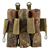7 Pot (inkl. 4 Loops) pt-field Rebel Pack Flecktarn Molle camo unisize -