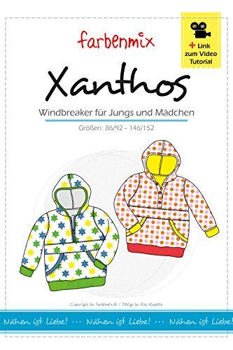Brittschens Stoffe und Zutaten Schnittmuster Papierschnittmuster Xanthos Windbreaker Farbenmix Größen 86-152