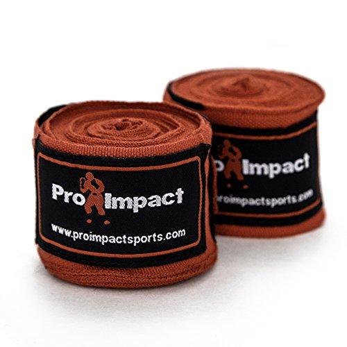 PRO IMPACT Boxen/MMA Boxbandagen 457,2 cm Mexiko Stil Elastic 1 Paar schwarz … (Red)