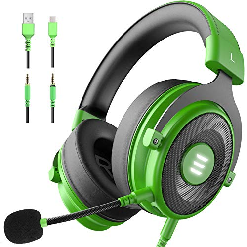 EKSA E900pro Gaming Headset PS4/XBox One, Virtual 7.1 & 3,5mm Surround Sound 2 in1 Kabelgebundenes Over-Ear Gaming Kopfhörer